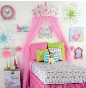 image is loading princess room decor for girls large pink metal - Room Decor 3d