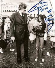 Caroline Munro. In person 8 x10 Signed photo with but not signed by Richard Kiel