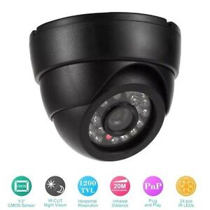 Plug 'n' Play Dome Security Camera with Night Vision Wired IR FREE SHIPPING USA