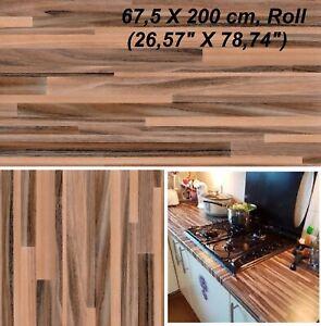 Dettagli su Piano di lavoro piano cucina in legno copertura in vinile  autoadesivo appiccicoso posteriore Wrap Roll- mostra il titolo originale