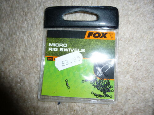 FOX CARP clearance  micro rig swivels  x3 packs