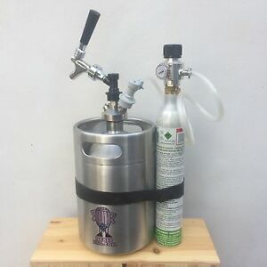 Mini Keg Beer Growler 5l Steel Spear Tap Soda Stream