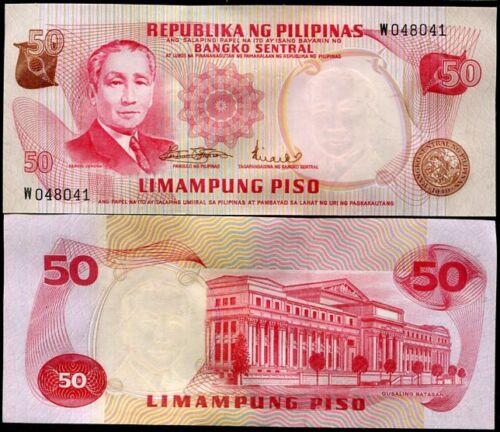 PHILIPPINES 50 PISO PESO P 151 AUNC ABOUT UNC LOT 5 PCS