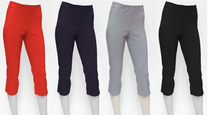 hochelastische Bengalin Hose, Stretchhose Capri - Tanja - viele Farben 34 - 48