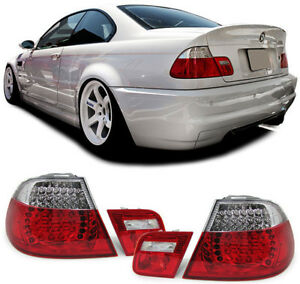 LED-Ruckleuchten-rot-klar-Facelift-Optik-fur-BMW-3ER-E46-Coupe-99-03