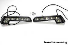2x 6 SMD LED Tagfahrlicht Tagfahrleuchten TFL DRL Xenon Weiß 12V MERCEDES L-Form
