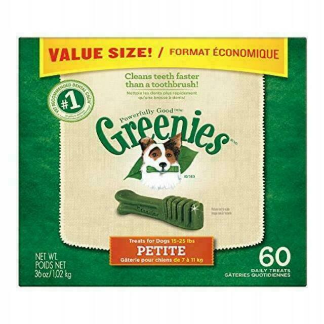 GREENIES Value Size 36 Oz Dental Chews for Petite Dogs - 60 Chews