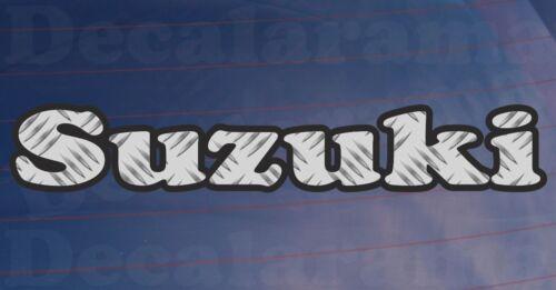 SUZUKI Chequer Plate Effect Car//Bumper//Window Novelty Printed Vinyl Sticker