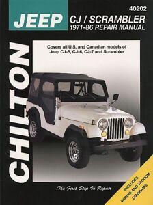 Chilton jeep repair manual.