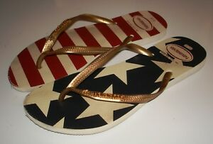 ad7f9b68b HAVIANAS Red White   Blue Stars   Stripes Flip Flop Thong Sandals ...