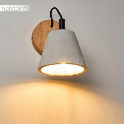 Retro Wand Lampen Holz//Beton Flur Dielen Strahler Wohn Schlaf Zimmer Beleuchtung