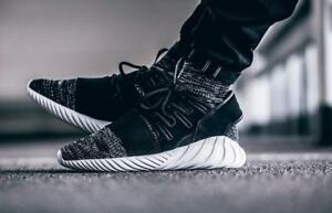 NEW-Adidas-Tubular-Doom-PrimeKnit-GID-Men-039-s-Shoes-Core-Black-Granite-BB2392-130