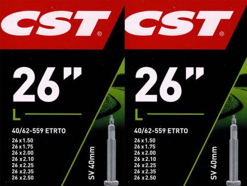 2x CST 26 SV Schlauch 26 Zoll Fahrradschlauch 40//62-559
