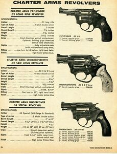 Details about 1975 Print Ad of Charter Arms Pathfinder, Undercoverette &  Undercover Revolver