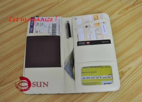 Fashion Faux Leather Passport Holder Travel Document Long Wallet Purse Organizer