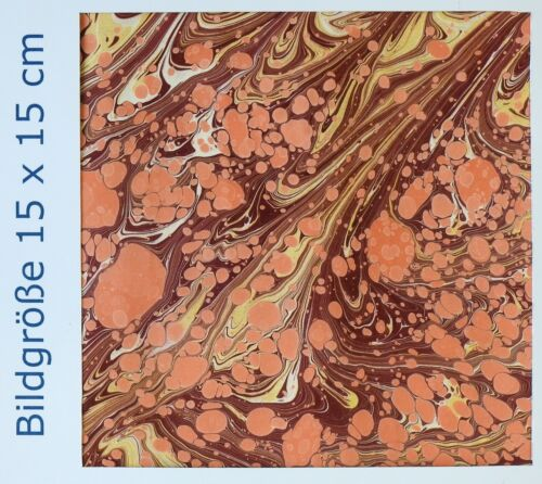 y509 Handmarmorpapier Vorsatzpapier Buchbindermaterial Ebru Handmarbledpaper