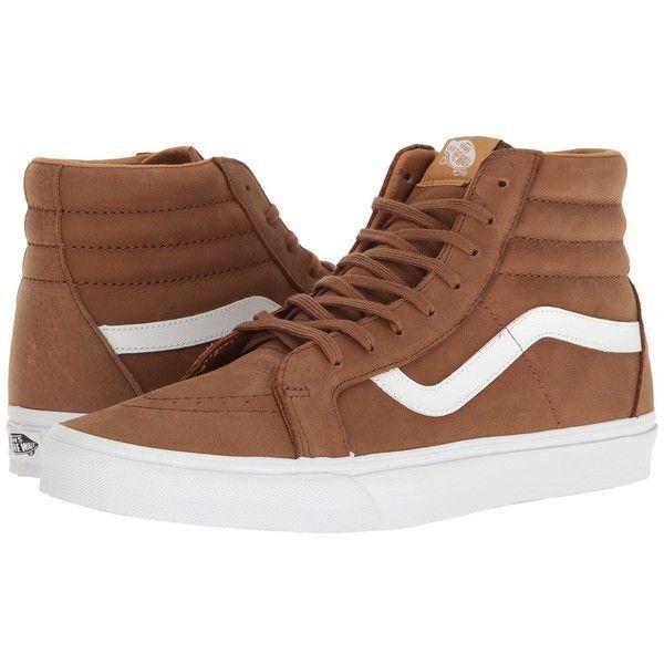 Vans Sk8 Hi Reissue Premium Leather Dachshund Brown shoes Mens 7.5 Womens 9