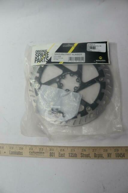 220mm Silver//Black For eBike 6-Bolt Magura MDR-P Disc Brake Rotor