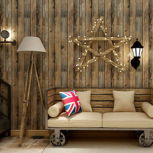 Wood Plank Self Adhesive Wallpaper Furniture Wall Stickers Bedroom Living Room