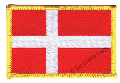 Denmark Flag EMBROIDERED PATCH 8x6cm Badge