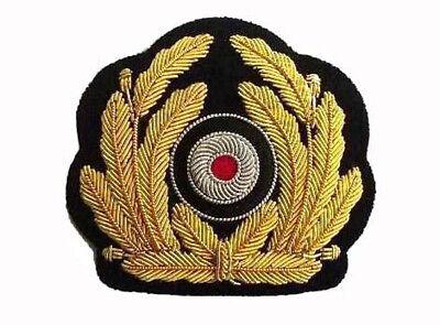 WH handgesticktes Heer General Schirmmützen Abzeichen Repro