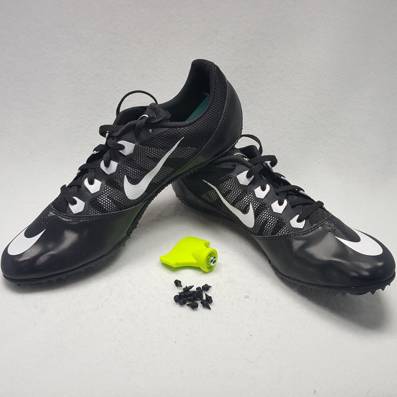 Nike Zoom Rival 7/vii S Racing track/sprint spikes/cleat Men Size 13 black/white