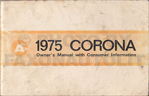 1975 toyota corona owners manual rt 105 115 119 owner user guide rh ebay ie Toyota Carina 1980 Toyota Corona