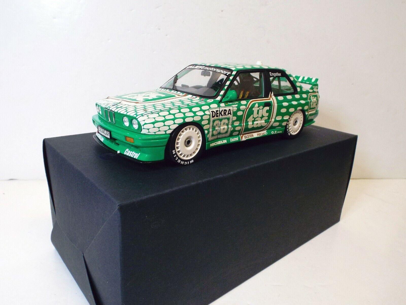 1 18 Minichamps concesionario BMW modelo E30 M3 Tic Tac Touring Car 1992 MIB (1 18 126)