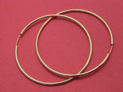 Real 14k Gold Hoop Earrings Endless hoops 12mm,30mm,40mm Solid 14kt yellow gold