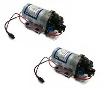 (2)new Shurflo 12v Electric Water Transfer Pumps 1.8 Gpm 60 Psi W/ Demand Switch