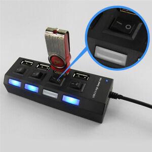 USB 2.0 Multi-Port Socket Four Ports Switch USB Hub Charging Charger//Stat SP