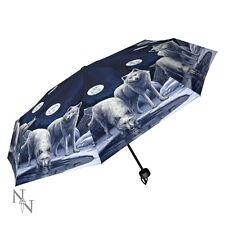 Nemesis/Lisa Parker - Warriors of Winter - Compact Wolf Umbrella. Gothic/Fantasy