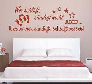 Wandtattoo-Spruch-Wer-schlaeft-suendigt-Sex-Wandsticker-Wandaufkleber-Aufkleber
