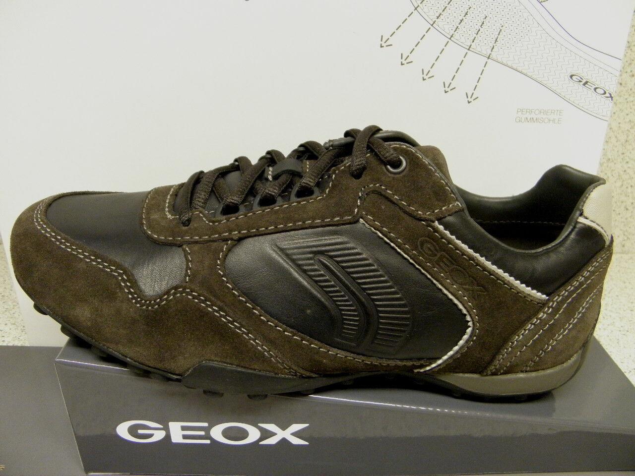 GEOX® bisher 119,95   Sneaker schwarz-braun + gratis Premium - Socken (G27)