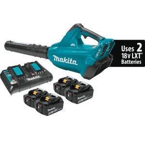 Makita-XBU02PT1-18V-LXT-Brushless-Cordless-Blower-Kit-w-4-Batteries-5-0Ah