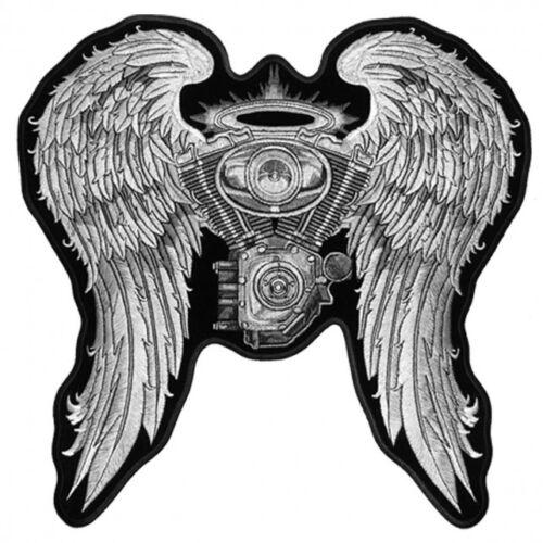 bordado Lady Biker Angel Asfalto Patch vTqwgZ