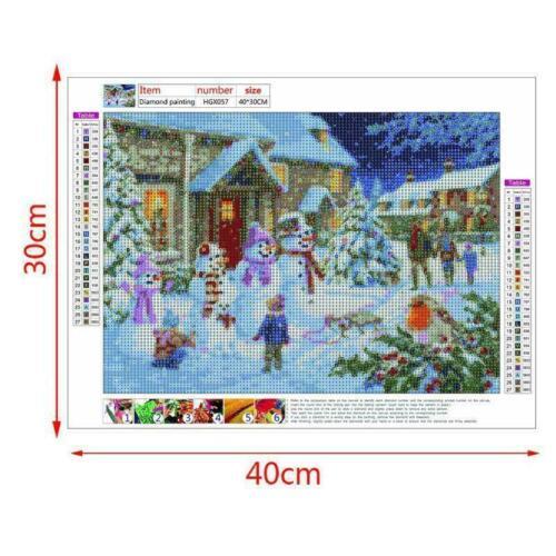 Snowman Full Drill 5D Diamond Painting DIY Cross Stitch Kits Home Decor Mosaic