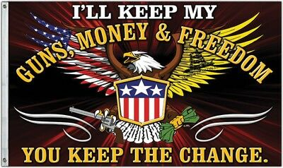 Bandiera Freedom First Cps36681 Money And Freedom Flag Squisito Artigianato;