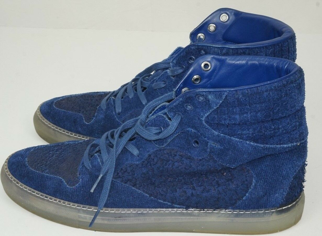 6602009831 Suede High shoes bluee Sneakers size Balenciaga Top neuntf3771 ...