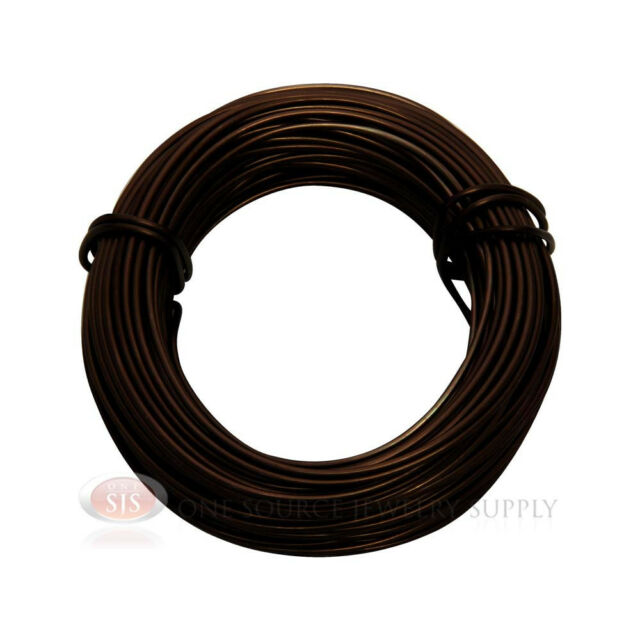 Matte Brown Aluminum Craft Wire 18 Gauge 39 Feet 11.8 Meters Wrapping Sculpture