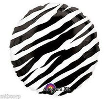 "ZEBRA PRINT Black & White All Occasion Birthday Shower 18"" Mylar Party Balloon"