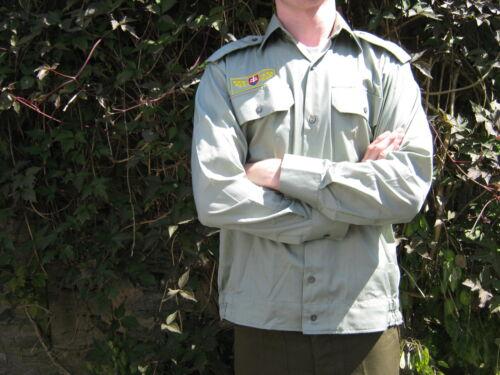 Slovakian Army Dress Shirt Long Sleeve Epaulettes Green Grey Military Surplus