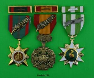Medals Vietnam Gallantry Cross, Civil Action, Campaign & Unit Award Ribbons