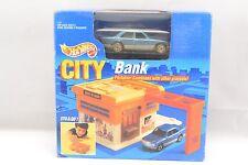 Hot Wheels Auto City Bank 1990 Mattel Portable NEW