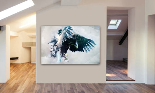 EAGLE BIRDS ABSTRACT WINGS CANVAS FRAMED WALL ART Various sizes