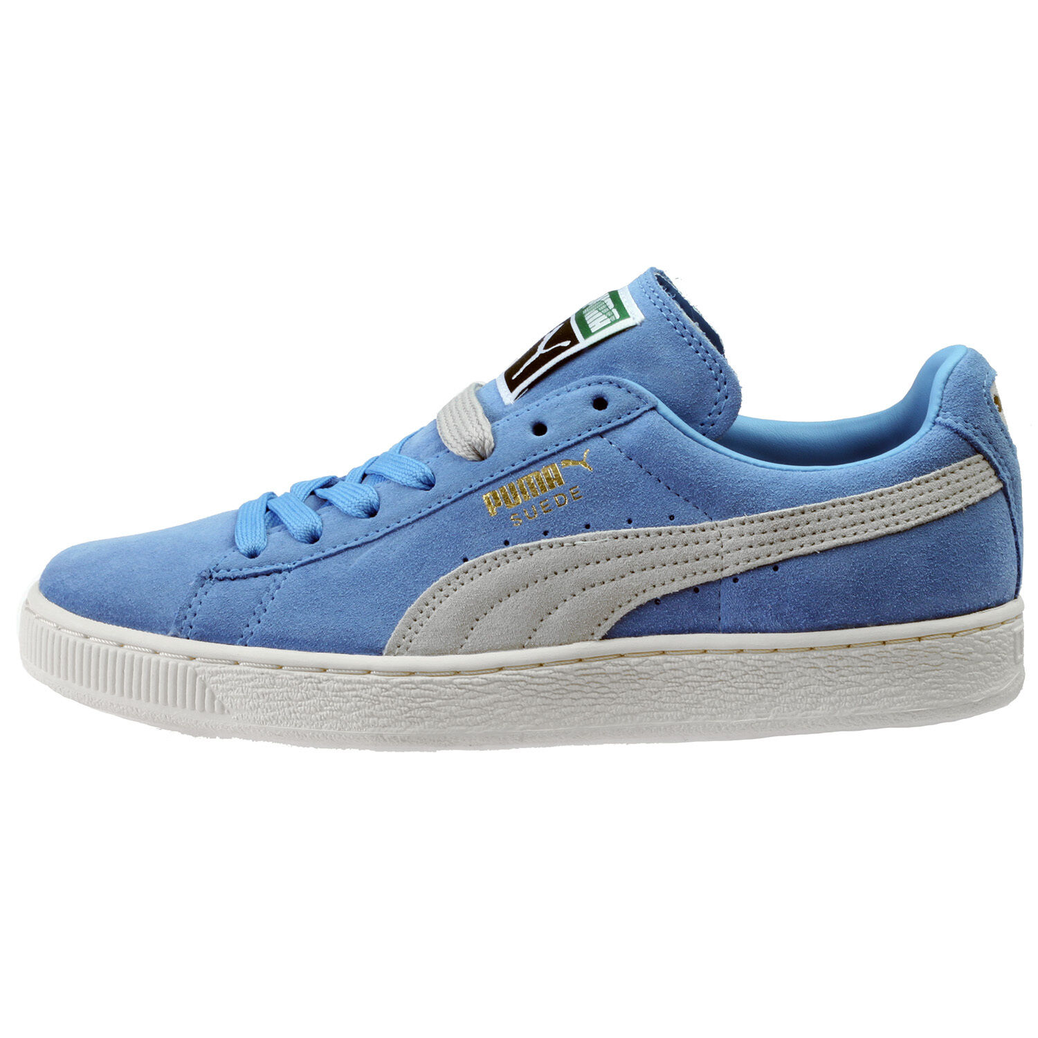 Puma Suede Classic + Mens 356568-39 Little Boy bluee Grey Athletic shoes Size 7.5