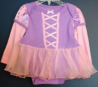 Disney Store Rapunzel Costume Bodysuit Girls Toddler 2 Years
