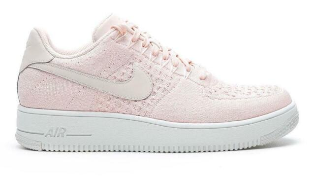 Details about Mens Nike Air Force 1 Ultra Flyknit Low 817419601 Sunset Tint Sail Trainers