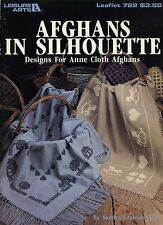 1989 Leisure Arts  Cross Stitch Patterns Afghans in Silhouette  For Anne Cloth