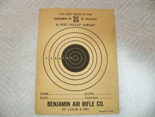One 25/' /& One 50/' Vintage Benjamin Air Gun Paper Targets